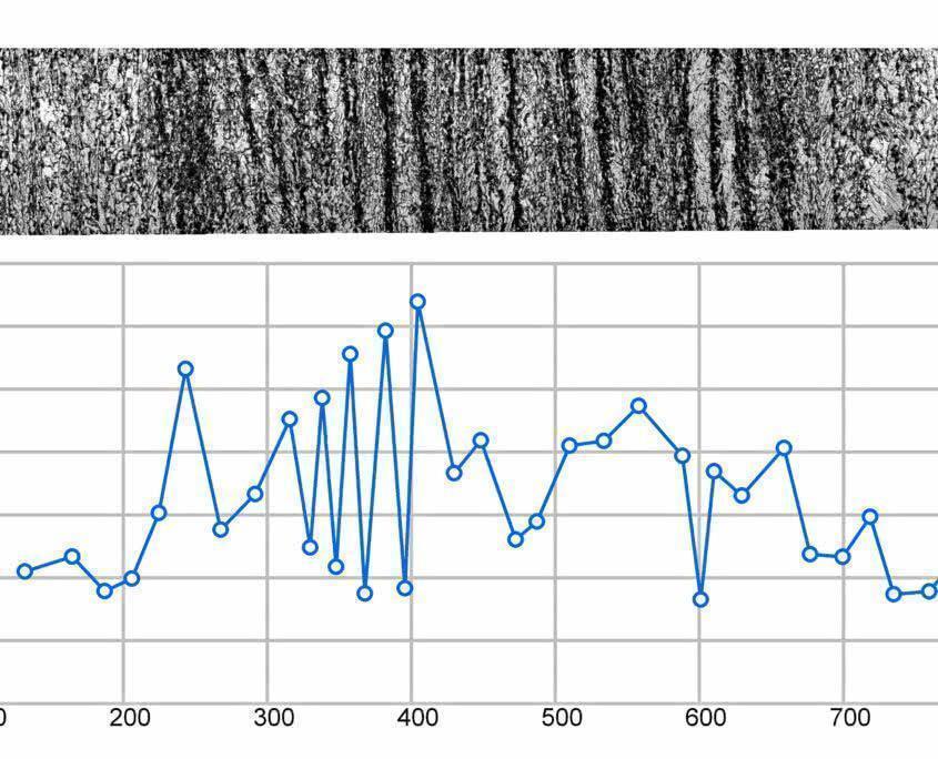 Перепады микротвердости в зоне ликвационной полосы листового проката